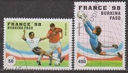 Sport - Football - BURKINA FASO - Coupe Du Monde France 1998 - N° 995-998 -1996 - Burkina Faso (1984-...)
