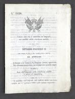 Regno D'Italia - Regio Decreto Imposta Sui Redditi Ricchezza Mobile - 1864 - Vecchi Documenti