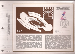 Francia, Obliterations,1986, 100 Ans D'ensegnement Technique - Preobliterados