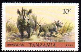1980, Tanzanie, Rhinoceros - Tanzanie (1964-...)
