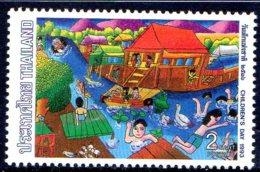 1993 Thailande, Enfant, Village Lacustre - Thaïlande