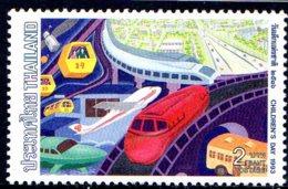 1991 Thailande, Enfant, Ville, Avion, Train - Thaïlande