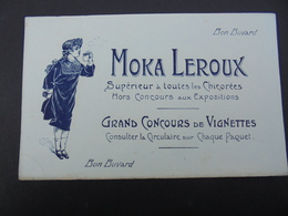 BUVARD - MOKA LEROUX - PETITE AUREOLE BAS COIN GAUCHE - Blotters