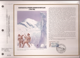 Francia, Obliterations,1986, Bicentenaire De La Premiere Ascension Du Mont Blanc - Preobliterados