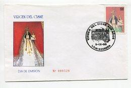 VIRGEN DEL CISNE. SOBRE / ENVELOPE ECUADOR AÑO 1995 FDC PRIMER DIA DE EMISION -LILHU - Christianisme