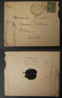FRANCE Lettre Grand-Couronne Censure Militaire 80 Timbre Semeuse Guerre 1914-1918 WW1 Seine Maritime - Storia Postale
