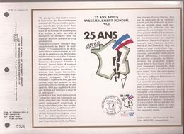 Francia, Obliterations,1987, 25 Ans Apres Rassemblement Mondial NICE - Preobliterados