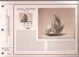 """Francia, Obliterations,1987, Antoine Pevsner """"Monde"""" - Preobliterados"""