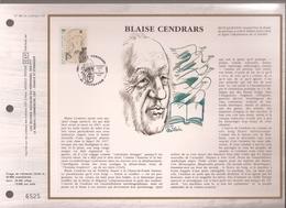 Francia, Obliterations,1987, Blaise Cendrars - Preobliterados