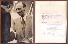 AC -  ZAHIR SHAH KING OF AFGHANISTAN 12 OCTOBER  1949 VISIT PARIS FRANCE PHOTOGRAPH - Afghanistan
