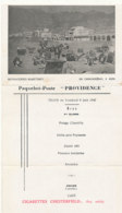 """BATEAU // PAQUEBOT POSTE  """"PROVIDENCE"""", Menu Carte Postale, Dinner Du Vendredi 6 Juin 1947 / UN CARAVANSERAIL A ADEN - Paquebots"""