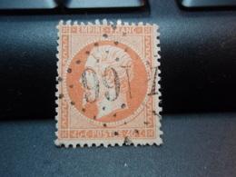 Timbres  . Napoléon III Empire Franc 40 C Oblitéré - 1862 Napoléon III