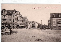 "De Haan - Le Coq, Rue De La Station, Aeroplage, BRIEFSTEMPEL "" Kaiserliche Marine, 2 Abt. II. Matrosen Regiment "" - De Haan"