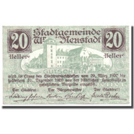 Billet, Autriche, Wiener Neustadt, 20 Heller, Château, 1920, 1920-03-29, SPL - Autriche