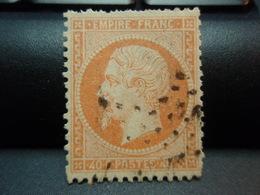 Timbres  . Napoléon III Empire Franc 40 C Oblitéré - 1862 Napoleon III