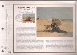 Francia, Obliterations,1987, Eugene Boudin - Preobliterados