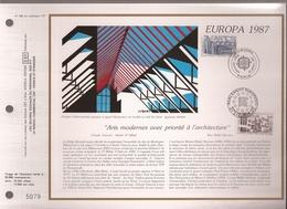 Francia, Obliterations,1987, Europa Parlament Europeen - Preobliterados