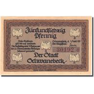 Billet, Allemagne, Schwanebeck, 75 Pfennig, Mairie, 1921 SPL Mehl:1206.1 - Allemagne