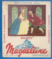 50 - GRANVILLE - BUVARD ILLUSTRÉ- BISCOTTES MAGDELEINE - ILLUSTRATEUR CLERC - DANSE ANCIENNE  N° 2 - - Biscottes