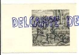 """Carte De Bonne Et Heureuse Année. Gravure De H. Burgkmair. Illustration De """"Weisskunig"""". Edité Par Le Home De Beloeil - Vieux Papiers"""
