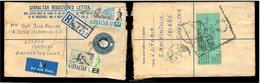 GIBRALTAR. 1961. Gibraltar - Portugal. Reg Air Stat Env + 2 Adtls Incl 1sh. Monkey. - Gibraltar