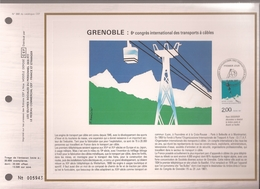 Francia, Obliterations,1987, Grenoble, 6 Congres International Des Transports A Cables - Preobliterados