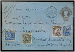 Brazil -Stationary. 1917 (18 June). Agua Limpia / Minas - Arasuahy. Reg Multifkd 300rs Stat Env. XF + Cancel. Lovely Ite - Brésil