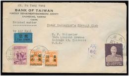 TAIWAN. 1954 (4 Dec). Kaohsiung - USA. Air Multifkd Env Incl 0,20c Tchauk KS. VF. - Taiwan (Formose)