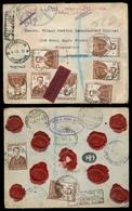 BULGARIA. 1931 (4 April). Sofia - UK. Reg Multifkd Env Incl Red Label + Special Red Cachet. V Scarce. - Bulgarien