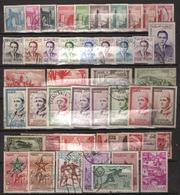 Maroc 104 Timbres Oblitérés Tous Différents - Maroc (1956-...)