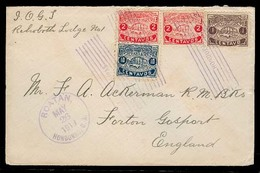 HONDURAS. 1919 (26 May). Roatan - UK. Tricolor Multifkd Env Scarce Overseas Town Cancels. - Honduras
