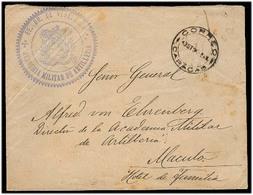 VENEZUELA. 1895. Caracas - Macutu. Sobre Franquicia Militar Artilleria Con Marca. MB. - Venezuela