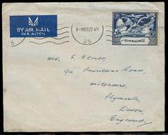 GIBRALTAR. 1949 (22 Oct). Gibraltar - UK. Air Fkd Env 3d. UPU. Fine. - Gibraltar