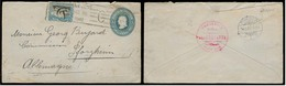 COSTA RICA. 1907 (26 Aug). San Jose - Germany. 5c Blue Stat Env, Held As Not Enough For Overseas Delivery, 5c Added To F - Costa Rica