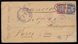 DOMINICAN REP. 1902 (14 Oct). Mao - France. Fkd Env (name Erased), Oval Town Date Cancel. Via Santiago (27 Oct). Very Sc - Dominicaine (République)
