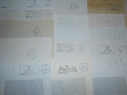 Andorre , Lot De 14 Lettres En Franchise Postale - Timbres