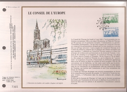 Francia, Obliterations,1987, Le Conseil De L'Europe - Preobliterados