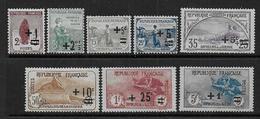 France -  Série N° 162 à 169 * - Cote : 255 € - Neufs