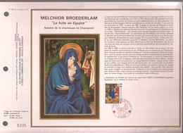"""Francia, Obliterations,1987, Melchior Broederlam, """"La Fuite En Egypte"""" - Preobliterados"""