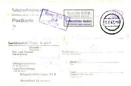 OFLAG XIIB = TREVES WIESBADEN CAMP OFFICIERS PRISONNIERS CPFM 1942 - Marcofilie (Brieven)