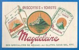 50 - MONT SAINT-MICHEL - BUVARD ILLUSTRÉ- BISCOTTES ET TOATS MAGDELEINE - - Biscottes