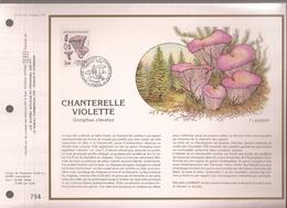 Francia, Obliterations,1987, Chanterelle Violete (SETAS) - Preobliterados