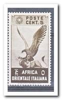 Italiaans Oost Afrika 1938, Plakker MH, Birds - Italian Eastern Africa