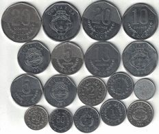 Costa Rica Collection Of 18 Coins 1982-1994 All Listed & Different - Costa Rica