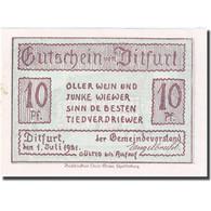 Billet, Allemagne, Ditfurt, 10 Pfennig, Ferme, 1921, 1921-07-01, SPL, Mehl:275.1 - Allemagne