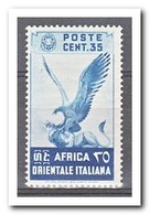 Italiaans Oost Afrika 1938, Postfris MNH, Birds - Italian Eastern Africa