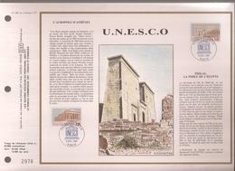 Francia, Obliterations,1987, UNESCO, Acropole Athenes Et Philae Perle De L'Egypte - Preobliterados