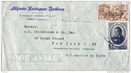 32020. Carta Aerea PORTO (portugal) 1948 To USA - 1910-... República