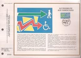 Francia, Obliterations,1988, Accessibilite Aux Handicapes - Preobliterados