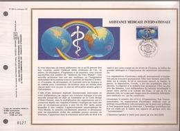 Francia, Obliterations,1988, Assistance Medicale Internationale - Preobliterados
